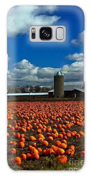 Pumpkin Farm Galaxy Case by Randall  Cogle