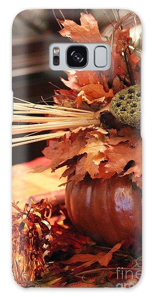 Pumpkin Leaf Decor Galaxy Case