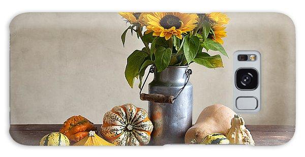 Pumpkins And Sunflowers Galaxy Case by Nailia Schwarz