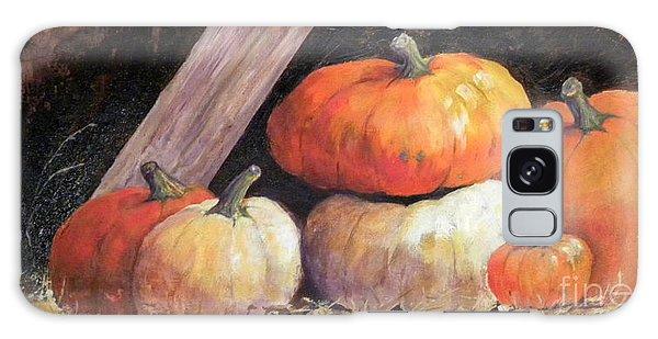 Pumpkins In Barn Galaxy Case