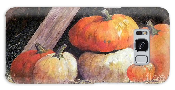Pumpkins In Barn Galaxy Case