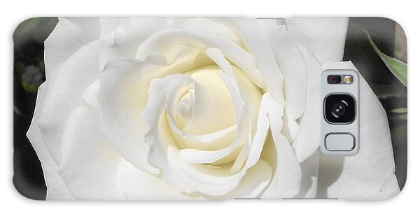 Pure White Rose Galaxy Case