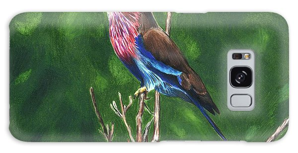 Purple And Blue Bird Galaxy Case