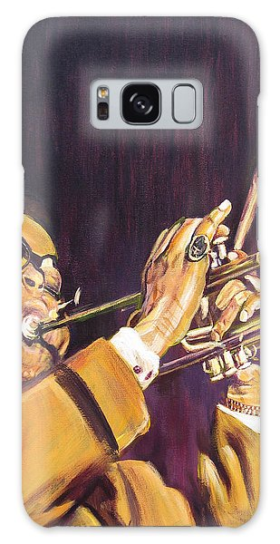 Purple And Gold Dizzy Gillespie Galaxy Case