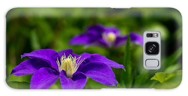 Purple Clematis Flower Galaxy Case