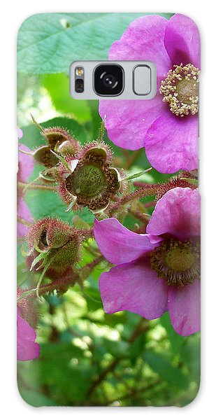 Purple-flowering Rasberry Galaxy Case