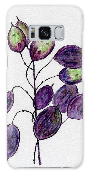 Purple Honesty Seed Heads Galaxy Case by Barbara Moignard