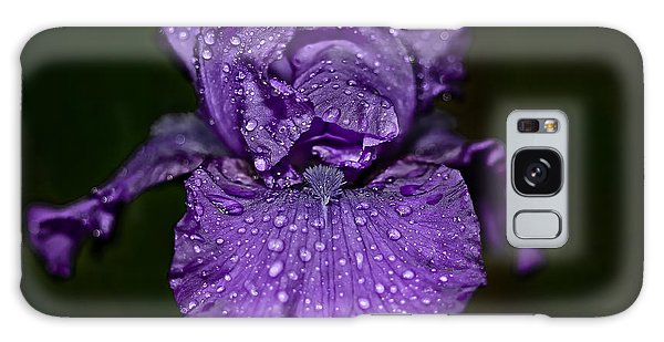 Purple Iris With Water Drops Galaxy Case