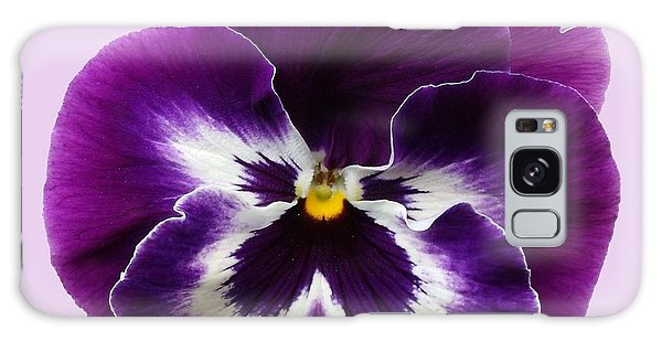 Purple Pansy Galaxy Case