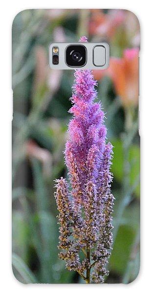 Purple Spear Galaxy Case by Bonnie Myszka