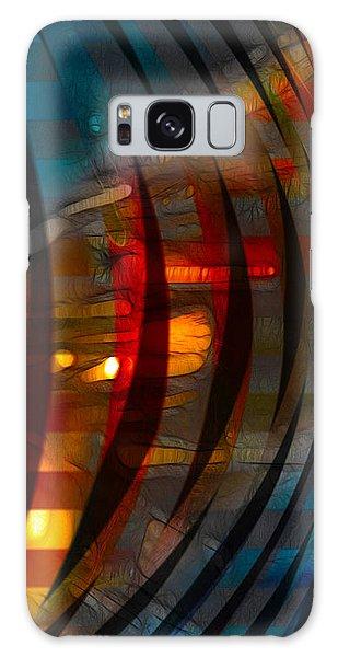 Pushing Paint  Galaxy Case by Stuart Turnbull
