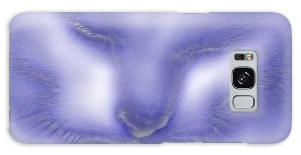 Digital Puss In Blue Galaxy Case by Linsey Williams