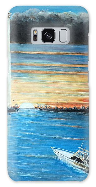 Put-in-bay Perry's Monument - International Peace Memorial  Galaxy Case by Bernadette Krupa