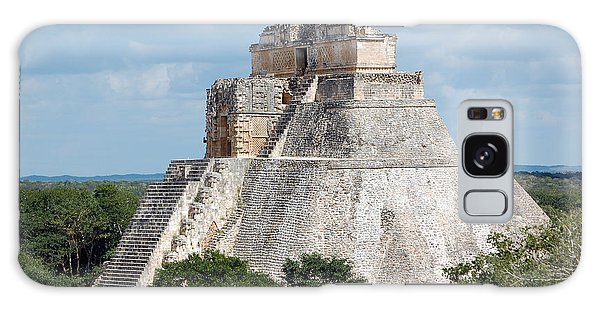 Pyramid Of The Magician At Uxmal Mexico Galaxy Case by Shawn O'Brien