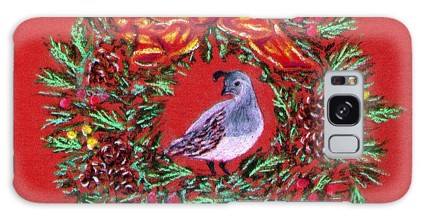 Quail Holiday Greeting Card Galaxy Case by Judy Filarecki