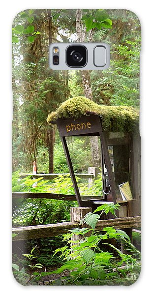 Rain Forest Telephone Booth Galaxy Case