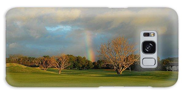 Rainbow Over Princeville Galaxy Case by Lynn Bauer