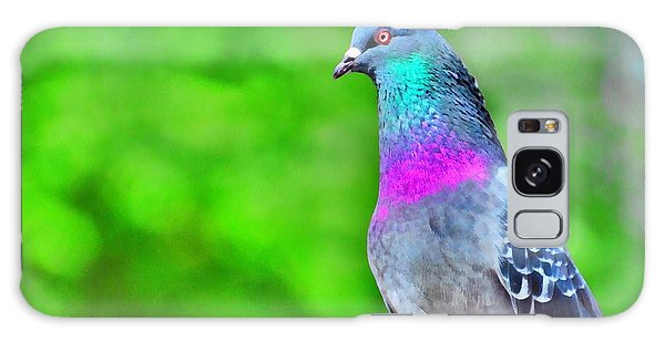 Rainbow Pigeon Galaxy Case