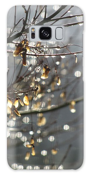 Raindrops And Leaves Galaxy Case by Katie Wing Vigil
