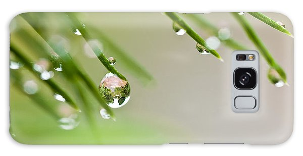 Raindrops On Needles Galaxy Case by Trevor Chriss