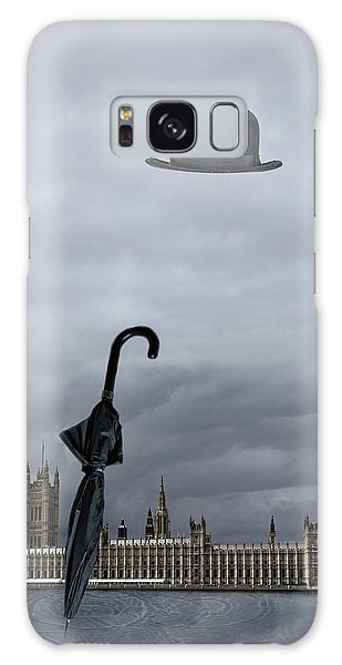 Rainy Day In London  Galaxy Case by Angel Jesus De la Fuente