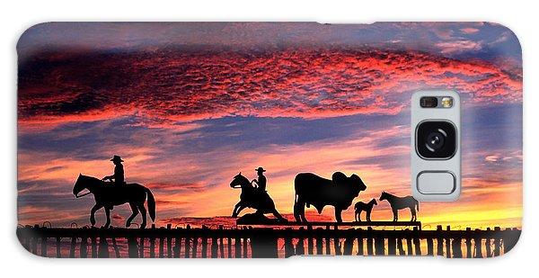 Texas Galaxy Case - Texas Ranch Gate At Sunrise by David and Carol Kelly