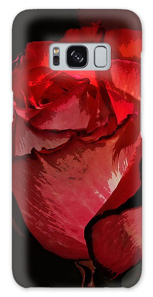 Rare Red Rose Galaxy Case