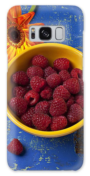 Raspberry Galaxy S8 Case - Raspberries In Yellow Bowl by Garry Gay