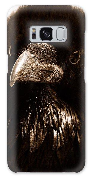 Raven In Black Galaxy Case by Michael Cinnamond