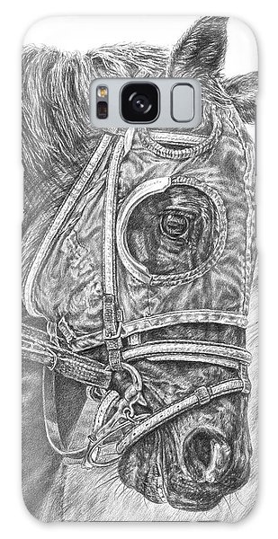 Ready Set Go - Race Horse Portrait Print Galaxy Case
