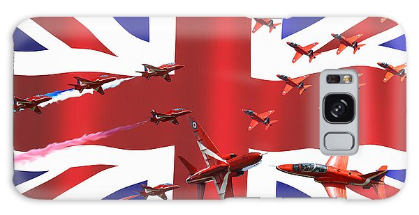 Red Arrows Union Jack Galaxy Case by Ken Brannen