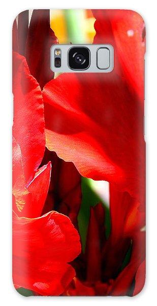 Red Canna Portrait Galaxy Case by M Diane Bonaparte