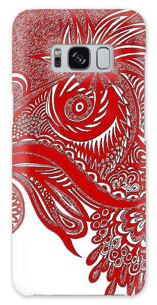 Galaxy Case - Red Chicken by Karen Elzinga