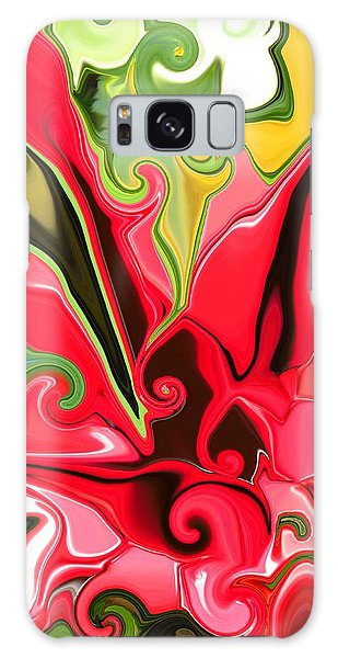 Red Fantasy Lily Galaxy Case by Renate Nadi Wesley