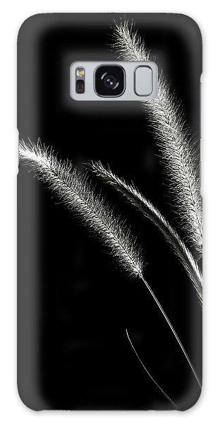 Red Fountain Grass In Black And White Galaxy Case