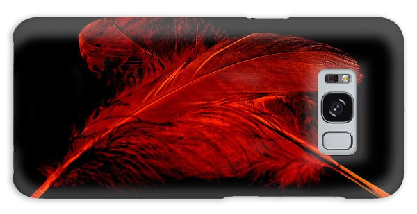 Red Ghost On Black Galaxy Case