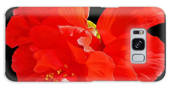 Red Hibiscus Galaxy Case by Cindy Manero