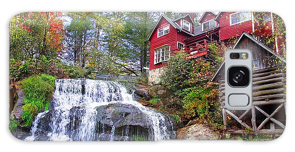 Red House By The Waterfall 2 Galaxy Case