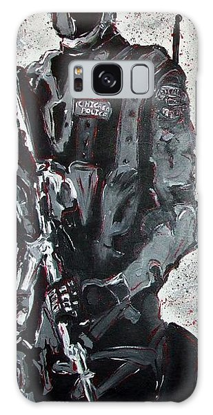 Red Marble Full Length Figure Portrait Of Swat Team Leader Alpha Chicago Police Full Uniform War Gun Galaxy Case