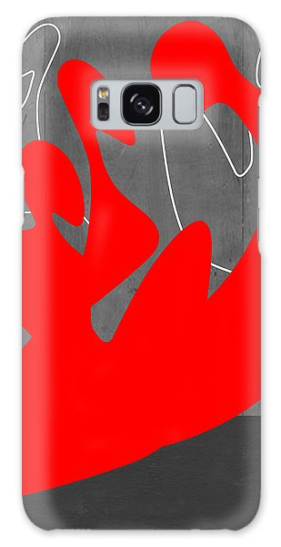Figurative Galaxy Case - Red People by Naxart Studio