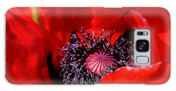 Red Poppy Close Up Galaxy Case by Bruce Bley