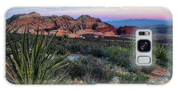 Red Rock Sunset II Galaxy Case by Rick Berk