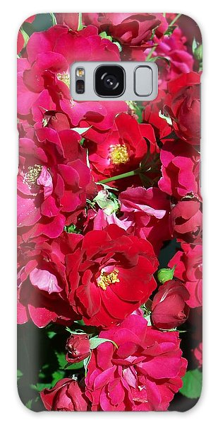 Red Rose Bush Galaxy Case
