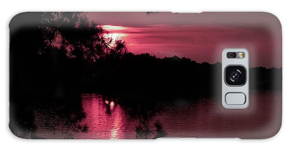 Red Sky At Night Galaxy Case by Shannon Harrington