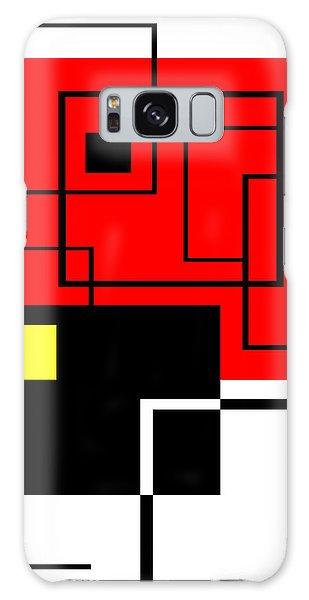 Red Square A La Mondrian Galaxy Case