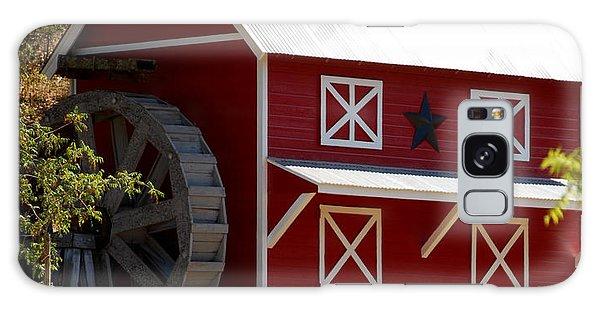 Red Star Barn Galaxy Case by Holly Blunkall