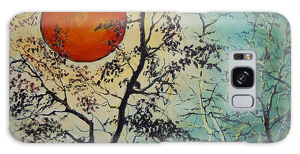 Red Sun A Red Moon Galaxy Case by Dan Whittemore