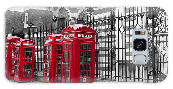 Red Telephone Boxes Galaxy Case by David French