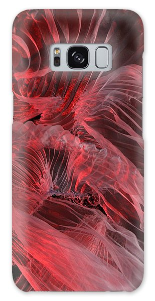 Red Textures Galaxy Case by Gillian Charters - Barnes