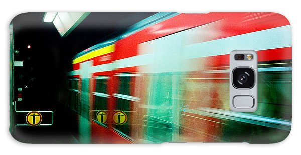 Transportation Galaxy Case - Red Train Blurred by Matthias Hauser